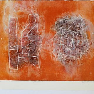 Signed Numbered Orange Print by Shoichi Hasegawa