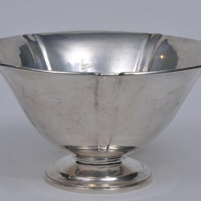 Arthur Stone sterling silver Arts and Crafts footed