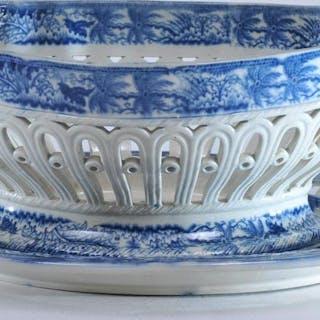 J.D. & Co. Castleford pottery blue transfer pearl ware