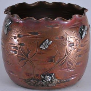Gorham mixed metals Aesthetic Movement copper body