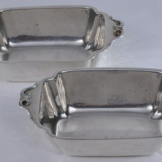 Pair of Cellini Craft sterling silver Arts and Crafts