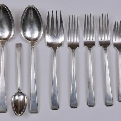 Craftsman sterling silver Arts and Crafts. 14 flatware