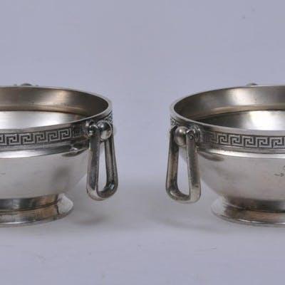 Pair of Gorham Victorian sterling silver round three