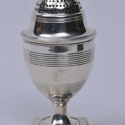 19th century English Georgian sterling silver salt