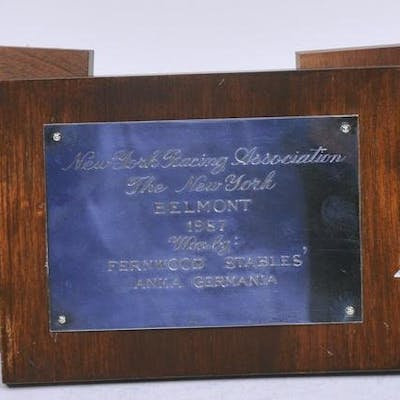 Three silver or silver plate presentation plaques