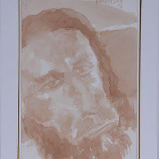 Akbar Padamsee (India). Original wash painting. 2006.