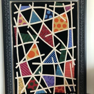 ROMERO BRITTO Carpet Night Landscape