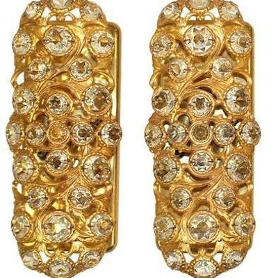 Peris Andreu Gold-Tone Metal & Crystal Sconces, Pr
