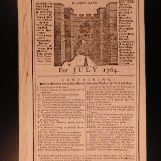 1764 Gentleman's Magazine COLUMBUS Voyage American