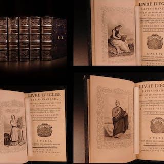 1777 BEAUTIFUL 5v SET Catholic Church Missal Breviary