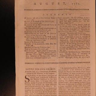 1787 Early Americana Revolutionary War Iceland Volcano