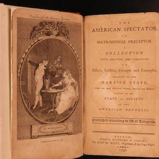 1797 1ed American Marriage Matrimonial Preceptor Boston