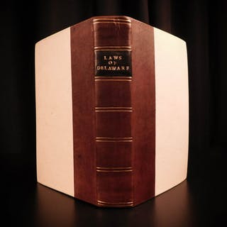 1797 1ed Laws of Delaware Early Americana US