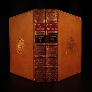 1820 Juvenal & Persius SATIRES Stoic Philosophy ROMAN