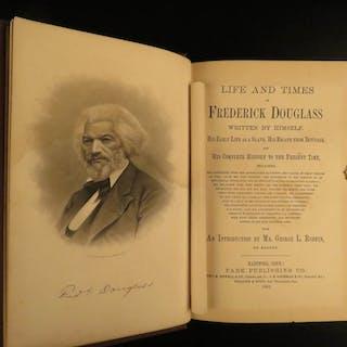 1882 Life of Frederick Douglass Illustrated SLAVERY