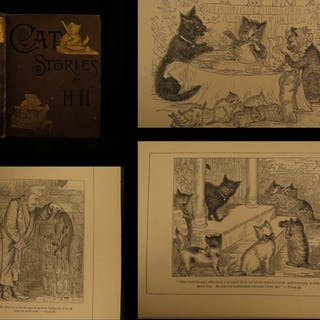 1886 1st ed Cat Stories & Letters Illustrated Children