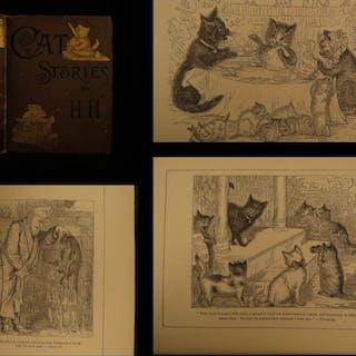 1886 1st ed Cat Stories & Letters Illustrated Children