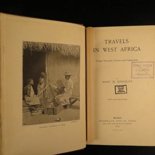 1897 1ed Travels in West Africa Mary Kinglsey PAGAN