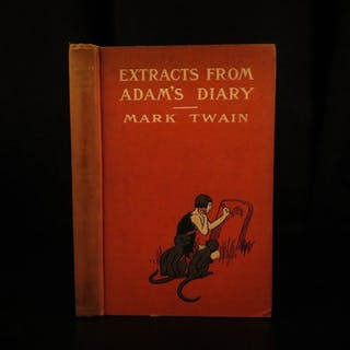 1904 1st ed Mark Twain Adam's Diary Fall of Man