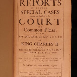 1688 LAW Reports of English Court Cases Enlightenment