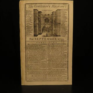 1755 Battle General Braddock INDIANS Gentleman's Mag