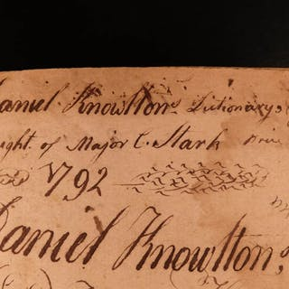 1790 Revolutionary War Stark Provenance RARE Entick