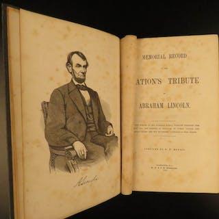 1865 1ed Abraham Lincoln Tribute Assassination