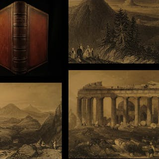 1868 GREECE by Wordsworth Illustrated MAPS & Scharf