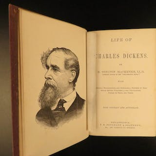 1870 1st ed Life of Charles Dickens Mudfog Papers