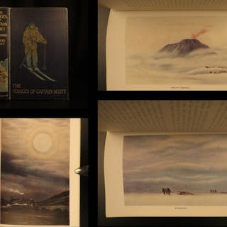 1914 1ed Arctic Voyages of Robert Scott Antarctica
