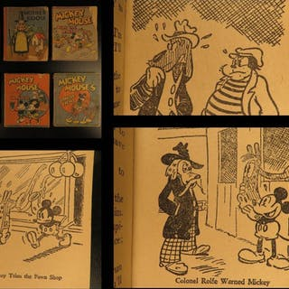 1934 Walt DISNEY Books Mickey Mouse Mother Goose Fairy