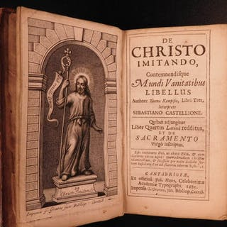 1685 Imitation Christ Thomas Kempis 1st Cambridge Ed