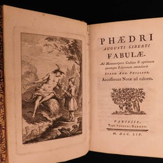 1754 Phaedrus Fables Aesop Greek Literature Stoic