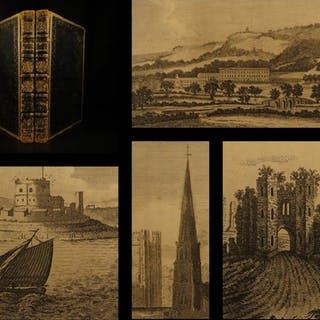 1804 England Delineated Illustrated CASTLES Ruins City