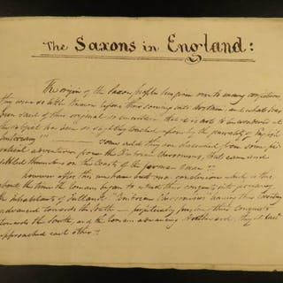 1800 SAXONS Handwritten English Manuscript England