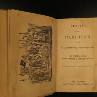 1834 1ed History of Spanish Inquisition Jews Torture