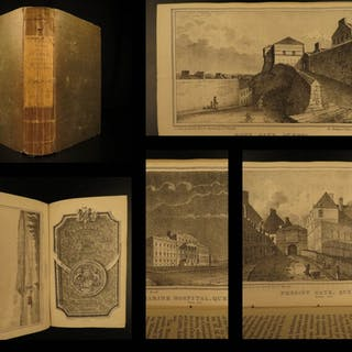 1834 1ed Picture of Quebec CANADA French Canada