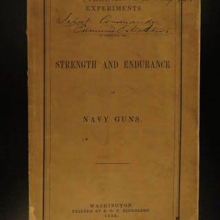 1854 1ed Admiral David Farragut NAVY Guns Experiments