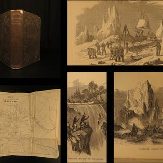 1858 Arctic Voyages Franklin Illustrated Whaling
