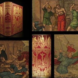 1861 EXQUISITE Life of Jesus Christ by Fleetwood Bible