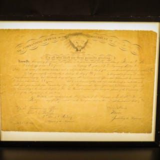 1864 SIGNED Civil War Orders Major Joseph Colburn