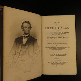 1865 1st ed Life of Abraham Lincoln SLAVERY Civil War