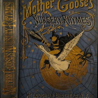 1886 Mother Goose Nursery Rhymes Color Illustrated