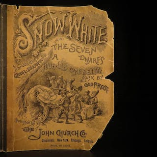 1888 Snow White & the Seven Dwarfs Fairy Tale Operetta