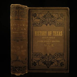 1893 History of TEXAS Civil War Indians Mexico Alamo