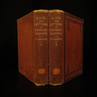 1887 1ed Charles Darwin Life & Letters Evolution