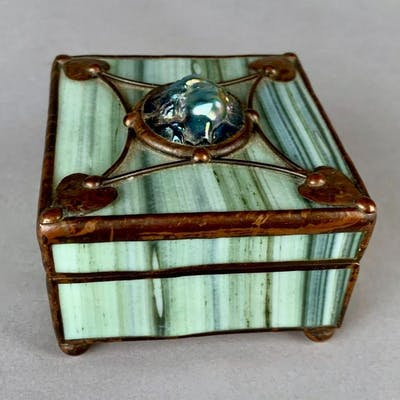 Orient and Flume Art Glass Box