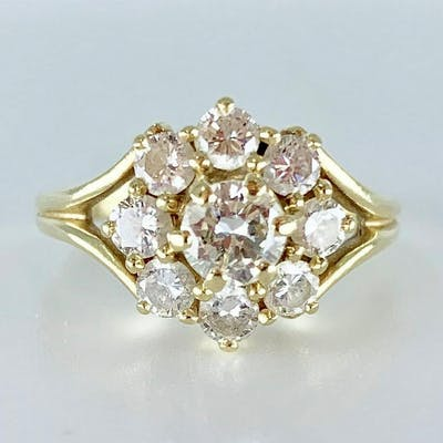 Ladies Diamond and 14K Yellow Gold Ring