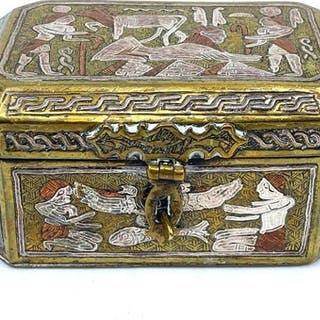 Egyptian Silver, Copper and Brass Box