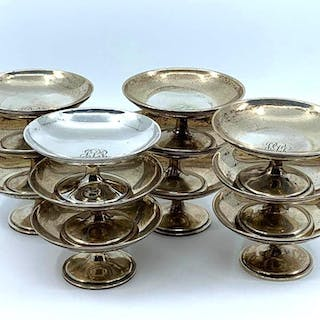12 American Sterling Silver Mint or Nut Dishes